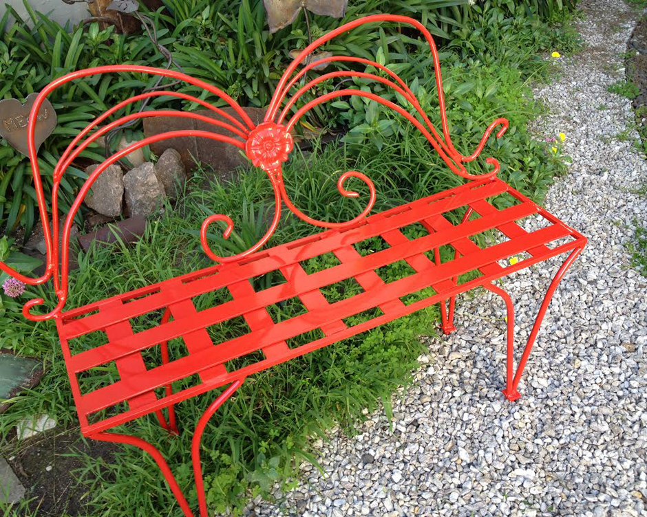 Red Butterfly Bench